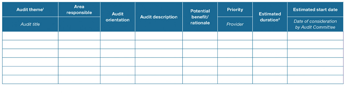 internal audit strategic plan template - what is audit program definition meaning purpose advantages
