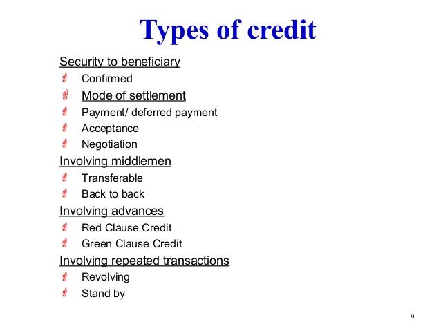 Define credit instruments its kinds yadclub Choice Image