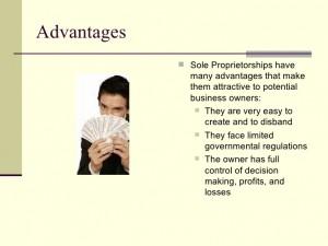 advantages of sole proprietorship