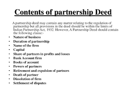 partnership deed