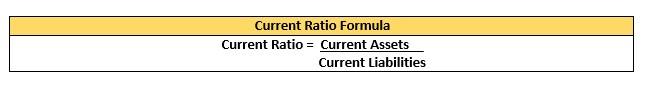 current ratio formula